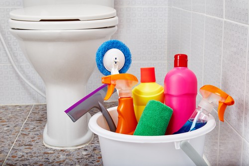 Bathroom cleaning tools